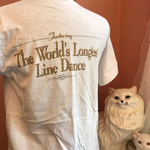 90s Tshirt, Vintage Tshirt, Laughlin River Days, Worlds Longest Line Dance