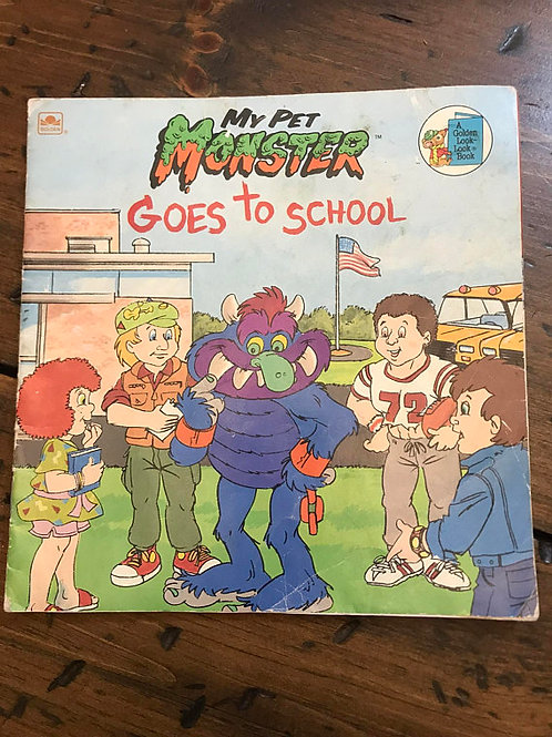 80s Children's Book, My Pet Monster Goes to School, First Day of School