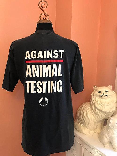 Vintage Tshirt, 90s Tshirt, Against Animal Testing, Grunge, Animal Rights, PETA