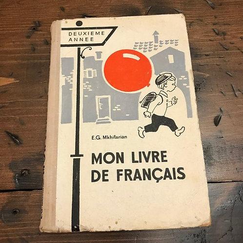 My French Book, Mon Livre De Francais, French School Lesson Book, School Book