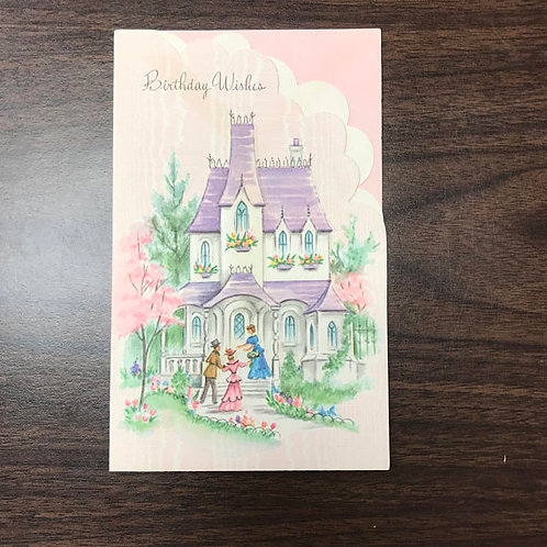 Vintage Card, Victorian House, Happy Birthday Wishes