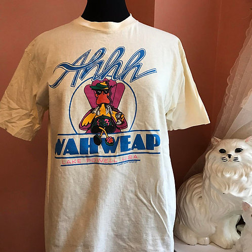Vintage Tshirt, 1980s / 90s T-Shirt, Wahweap, Lake Powell, Arizona, Duck