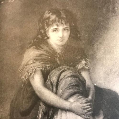 Antique Print, M'liss, Mountain Girl, Girl Print, Bret Harte, Smith's Pocket