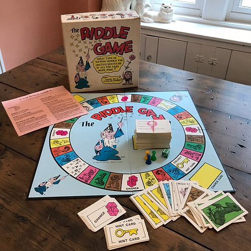 Vintage Game, RIDDLE GAME, Board Game, Party Game, Family Game, Kids Trivia
