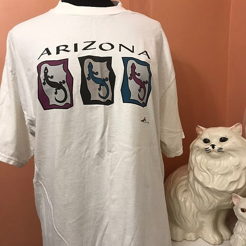 Vintage Tshirt, 90s T-Shirt, Arizona Lizards, Tourist Shirt, Souvenir Shirt, XL