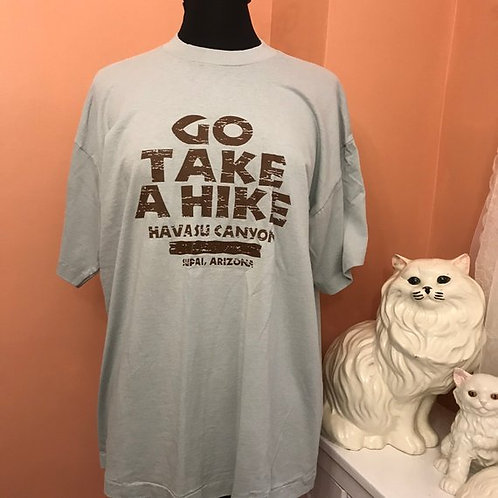 Vintage Tshirt, 90s T-Shirt, Go Take a Hike, Havasu Canyon, Arizona, Tourist