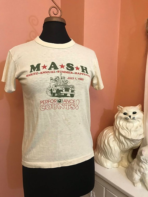Vintage 80s, MASH Tshirt, Spoof, Company Picnic, M