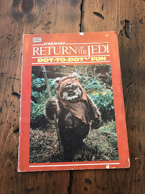 Vintage Star Wars Coloring Book - Return of the Jedi, Dot to Dot Book, Ewoks,