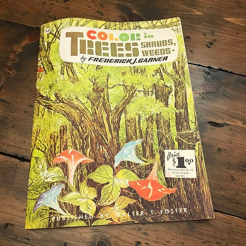 Art Magazine, Color in TREES, SHRUBS, WEEDS, 60s Art, Walter T. Foster