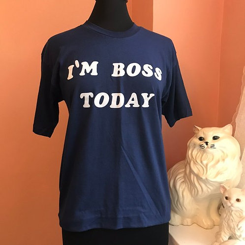 Vintage Tshirt, 70s Shirt, 80s T-shirt, I'm the BOSS, Boss Gift, Funny Tshirt