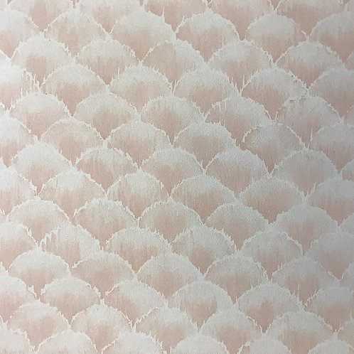 Vintage Pink Wallpaper, 80s Wallpaper, Vinyl Wallpaper, Scalloped, Deco, Feather