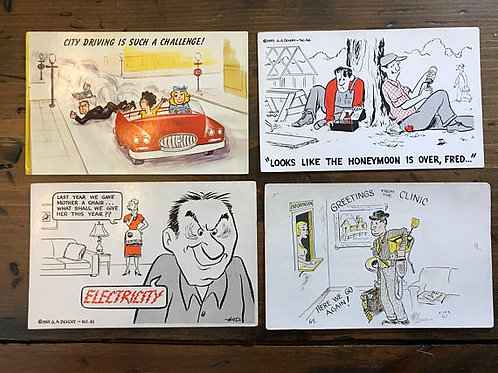 Vintage Postcard, Cartoon Cards, Postcard Collection, Funny, Glenn A. Devery