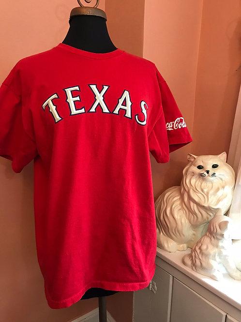 Texas Tshirt, 2000s, T-Shirt Texas, Racetrack, Red Tshirt, Lone Star