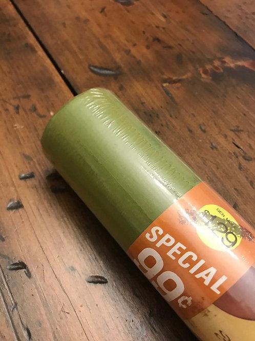 Vintage Shelf Liner, 70s Shelf Liner, Olive Green, Solid Color, NOS