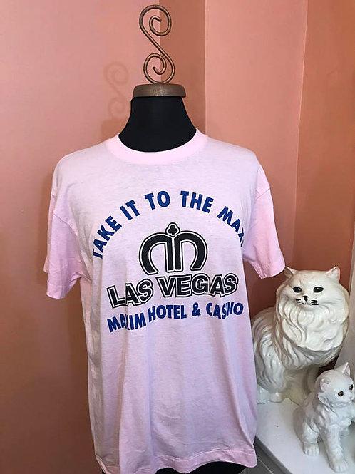 Vintage Tshirt, 80s Screen Stars Tshirt, Las Vegas, Maxim Hotel, Casino, Girls