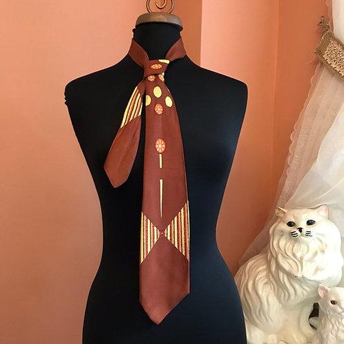 """Vintage Tie, 1940s Swing Tie, Jewel and Gem Originals Necktie, 49"""" Candy Gumdrop"""