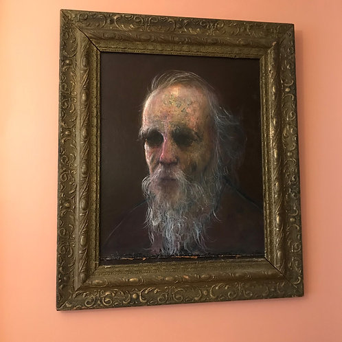 Bearded Man, Vintage Oil Painting by Stephen Bagnell (1930-1996)