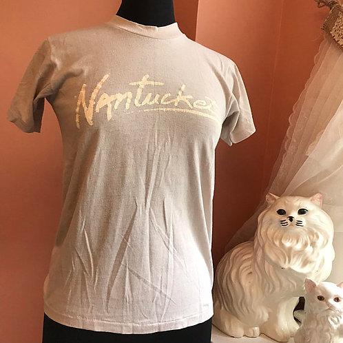 Vintage Tshirt, 80s T-Shirt, Nantucket, Massachusetts, Cap Cod, Vacation Tourist