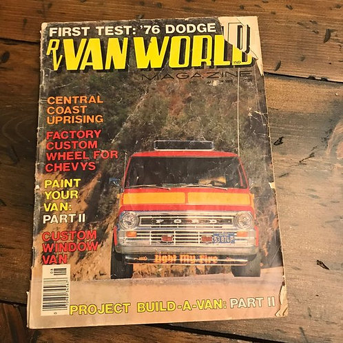 Vintage Auto Magazine, 70s RV Van World, Retro Rides, Cars Trucks, Vans, Tour