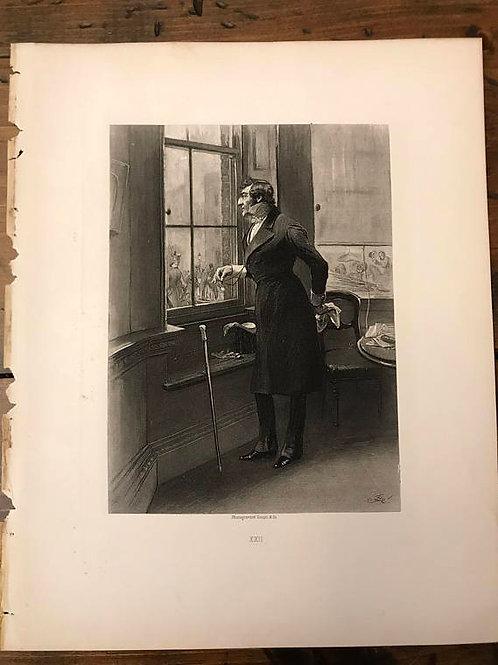 Antique Print, Photogravure, Thackeray's History Of Pendennis, Wellington