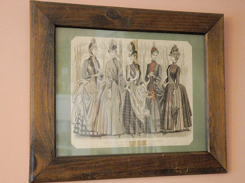 Antique Print, Vintage Print, September 1887, Les Modes Parisiennes, Peterson's