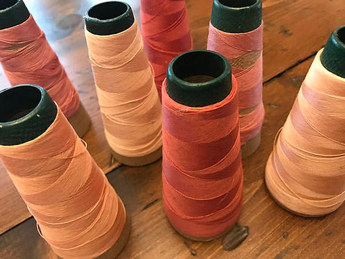 Vintage Spools of Sewing Thread, Pink, Mauve, Berry, Seamstress, Tailoring