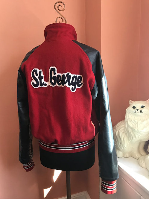 Vintage Varsity Jacket, St George School, Rhode Island, Girls Basketball