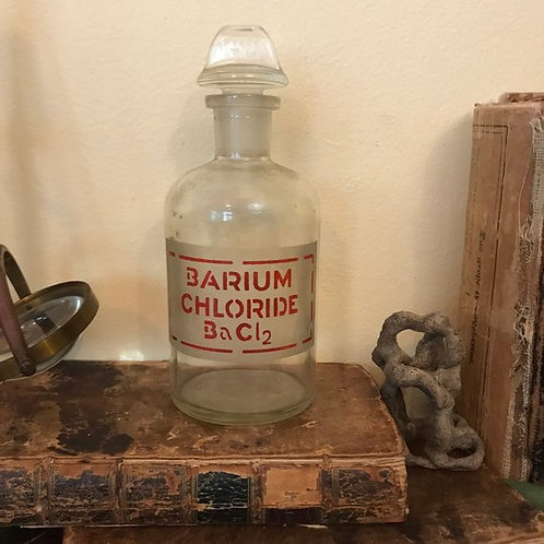 Etched Glass Pyrex Bottle, Old Poison, Medical, Laboratory Equipment