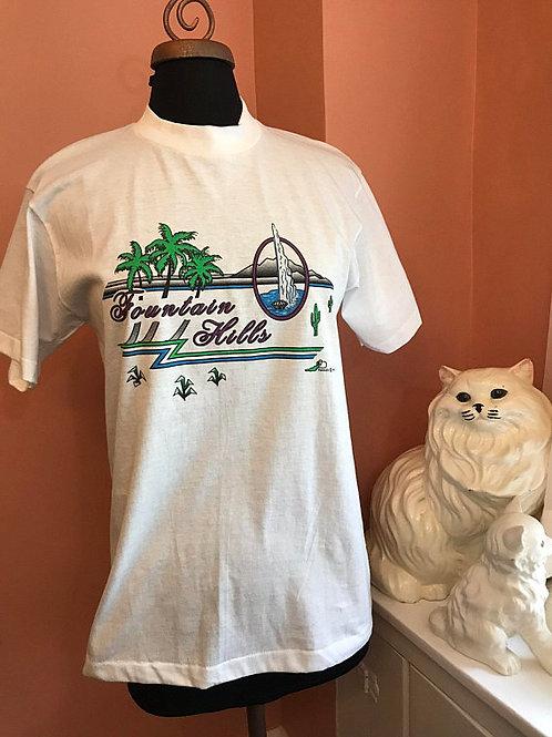 Vintage Tshirt, 90s T-Shirt, Fountain Hills, Arizona, Tourist Shirt, Souvenir