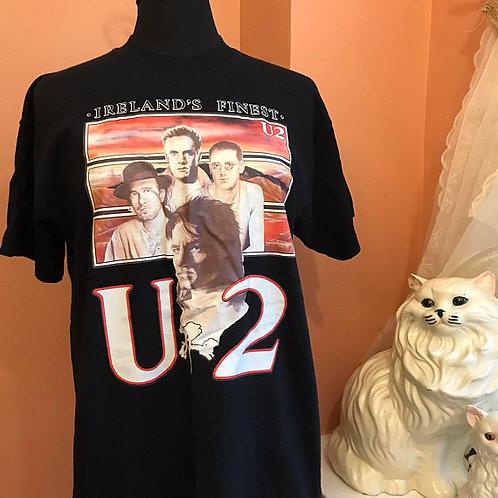 Vintage Tshirt, 90s Tshirt, U2 Shirt, Bono Shirt, U2 Iron-On Transfer Shirt