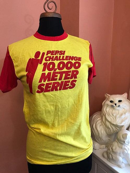 Vintage Tshirt, 80s T-shirt, Pepsi Challenge, 10,000 Meter Series, Mint