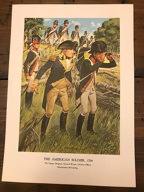 Vintage Print, Military Art, 1966, The American Soldier,1794