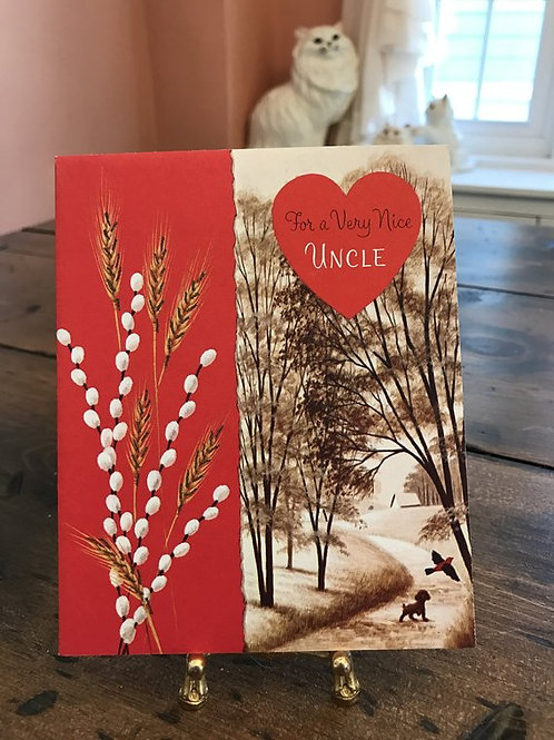 Greeting Cards,Vintage Card, Valentines Card for Uncle