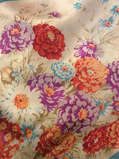 Oscar de la Renta for Accessory Street, Spring Floral Scarf, Silk Handkerchief