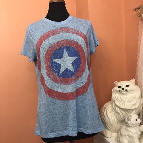 Captain America Distressed Tee, Junior L, XL