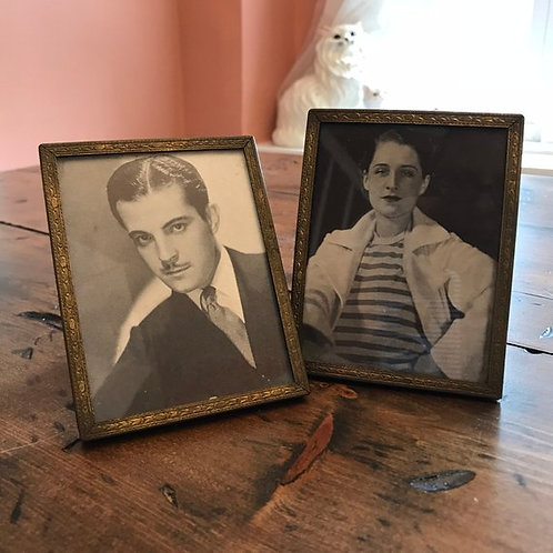 Vintage Framed Hollywood, Mini Pictures, Roman Navarro, Norma Shearer