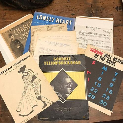 1940s thru1970s Sheet Music, Sheet Music Mixed Lot, Vintage Music, Elton Joh