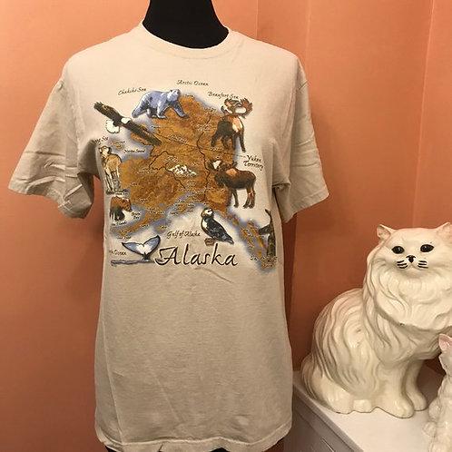 Vintage Tshirt, 90s T-Shirt, Alaska Shirt, Alaskan Wilderness, Wildlife, Alaska