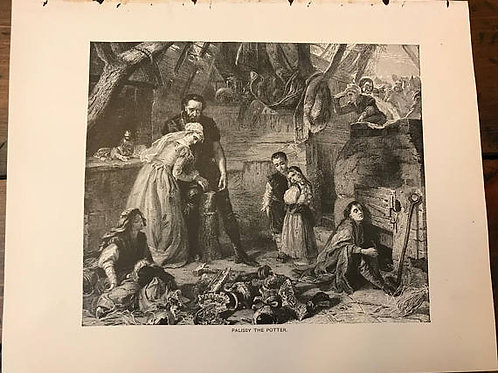 Antique Print, Typogravure, Palissy The Potter, 1892 Romance Fiction