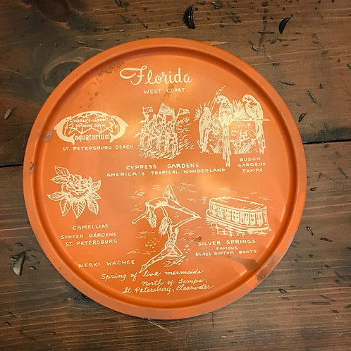 Florida Metal Tray Souvenir, Tourist Travel Gift, Clearwater, Tampa, St Pete
