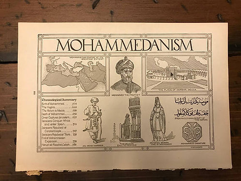 Religious Print, Vintage Print - Mohammedanism, Mythology, Ancient