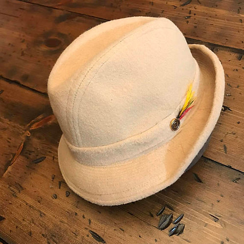 Vintage 70s Felt Wool Fedora, Vendome Greenwich Village