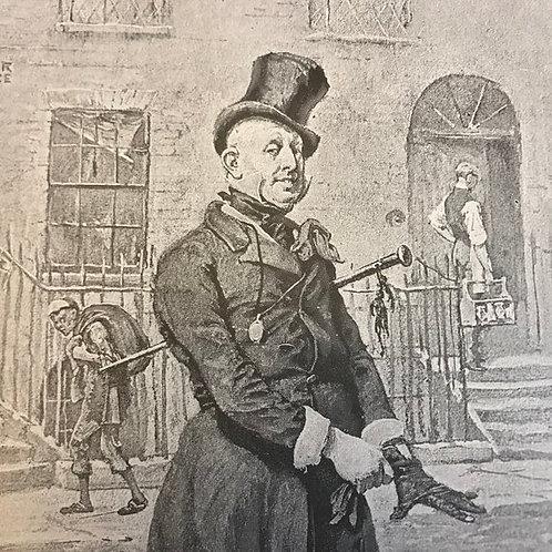 Antique Print, David Copperfield, Dicken's Mr. Wilkins Micawber, Dickens