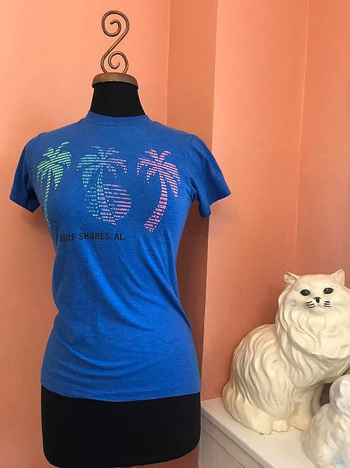 80s T-Shirt, Vintage Tshirt, Gulf Shores, Alabama, Florida, Palm Trees