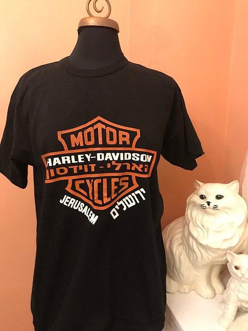 Vintage T-Shirt, HD 90s Tshirt, RARE Harley Davidson Jerusalem Motorcycles