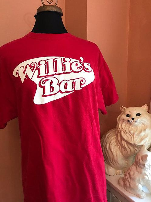 Vintage Tshirt, 90s T-Shirt, Willie's Bar, Smiley Face Shirt, Bar Shirt