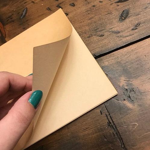 Vintage Sketch Pad, Blank Pages, Yellowed Paper, Distressed Vintage