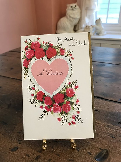 Greeting Cards,Vintage Card, Valentines Card for Aunt and Uncle