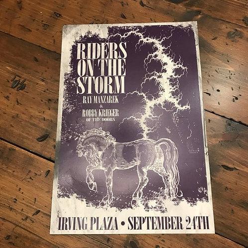 The Doors, Ryan Manzarek, Robby Krieger, Concert Poster Irving Plaza Show Poster