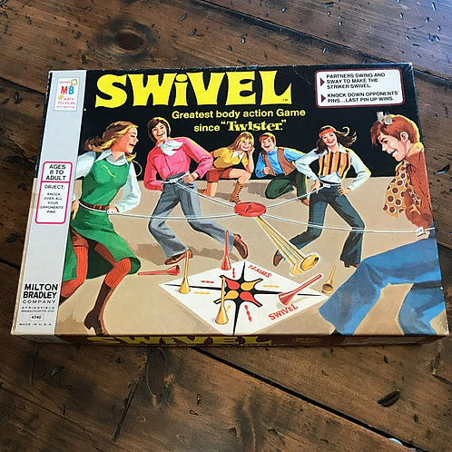 Vintage Game, SWIVEL, 70s Board Game, Makers of Twister, Kids Activety, Dance